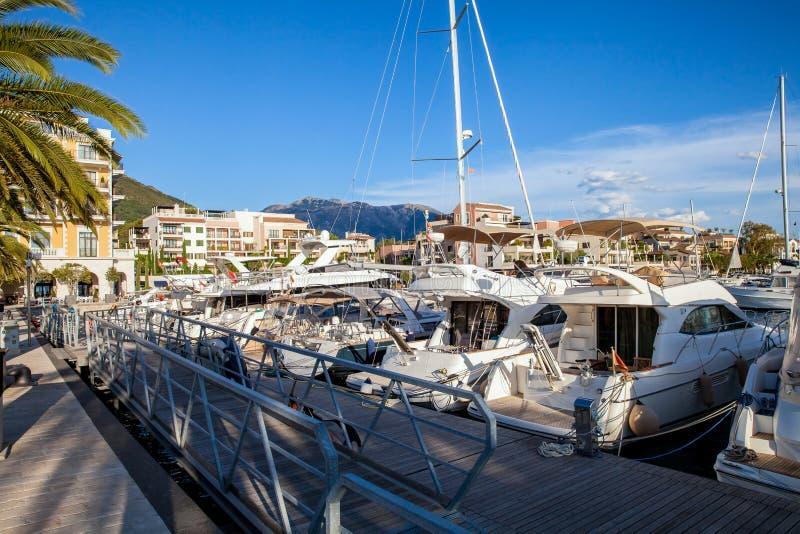 Porto Montenegro in Kotor Bay. royalty free stock image