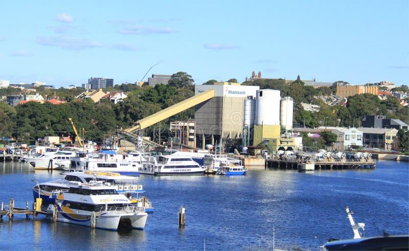 Porto na baía de Blackwattle, Sydney fotos de stock