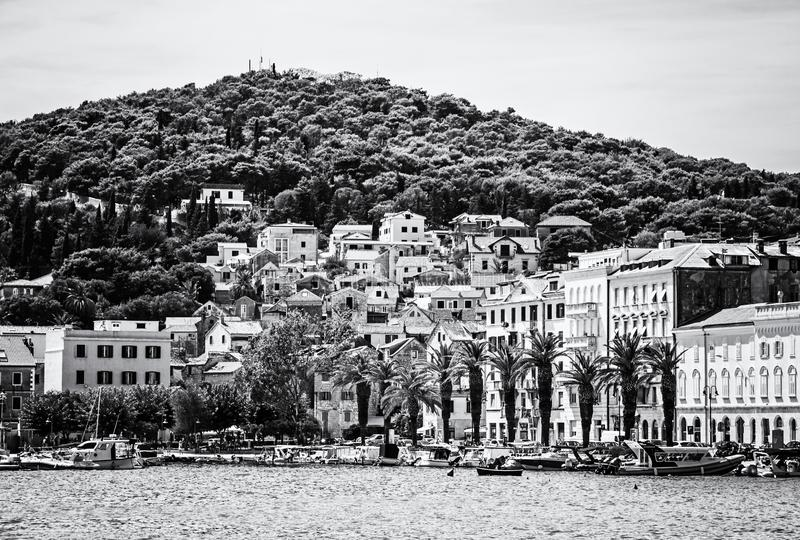 Porto nella spaccatura, Croazia, incolore fotografie stock libere da diritti