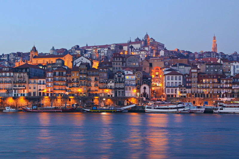 Download Porto by Night stock image. Image of dusk, darkness, tower - 6381633