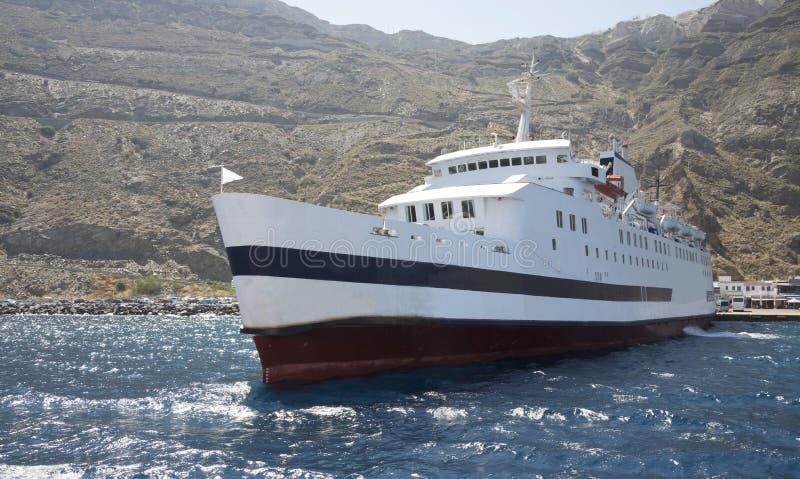 Porto no caldera de Santorini fotos de stock