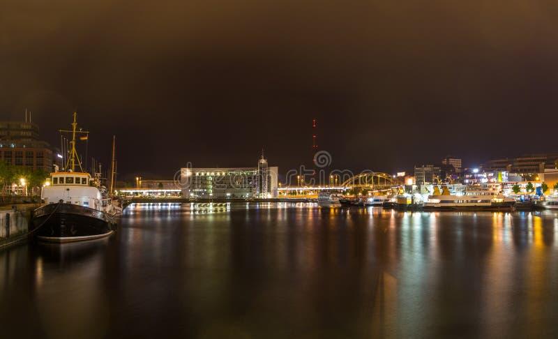 Porto no porto de Kiel, Alemanha foto de stock royalty free