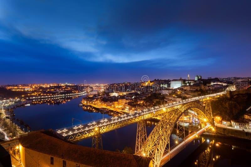 Porto noc obraz royalty free
