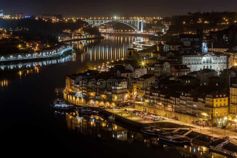 Porto noc zdjęcie stock