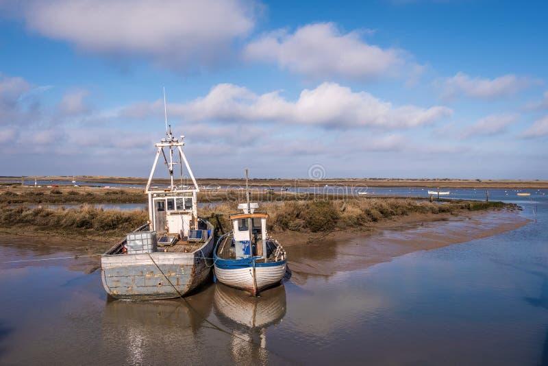 Porto Norfolk de Brancaster Staithe fotografia de stock