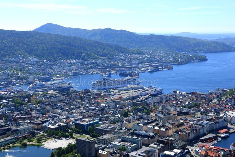 Porto Noruega de Bergen fotos de stock