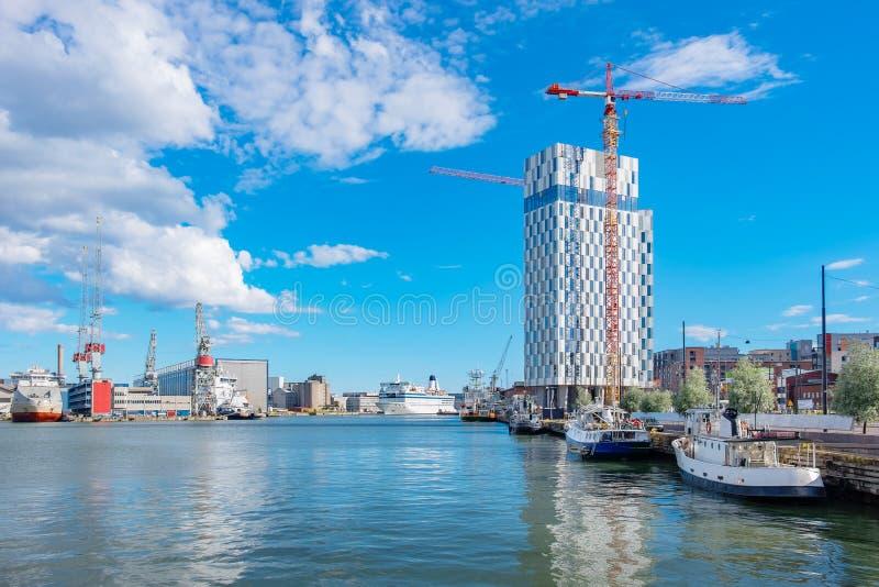 Porto ocidental Helsínquia, Finlandia imagem de stock