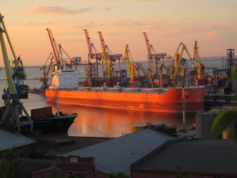 Porto a Odessa fotografia stock