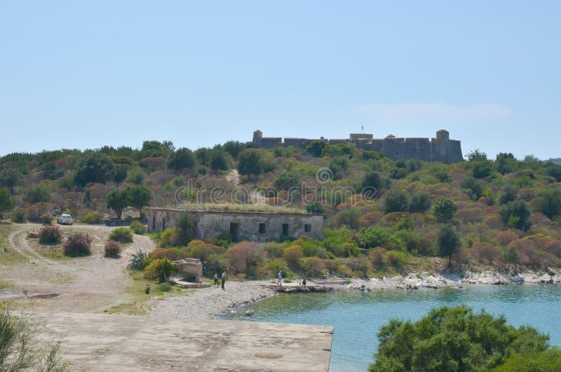 Porto Palermo slott, Albanien arkivfoto