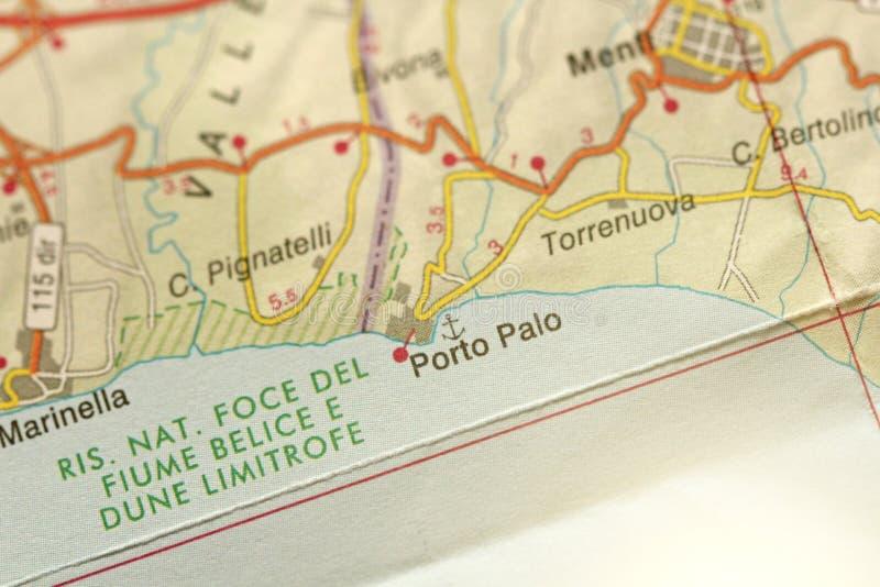 Porto Palo Ön av Sicilien, Italien arkivfoto