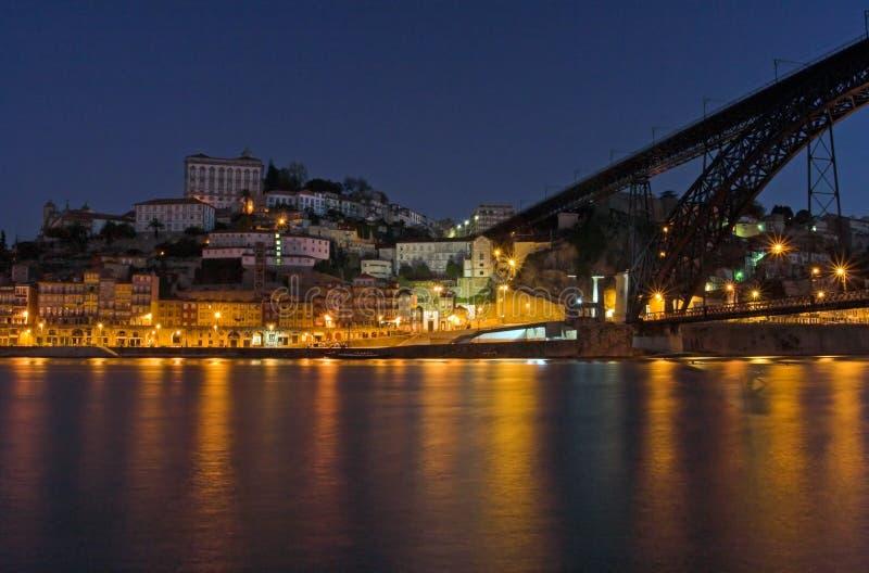 Porto par nuit photographie stock libre de droits