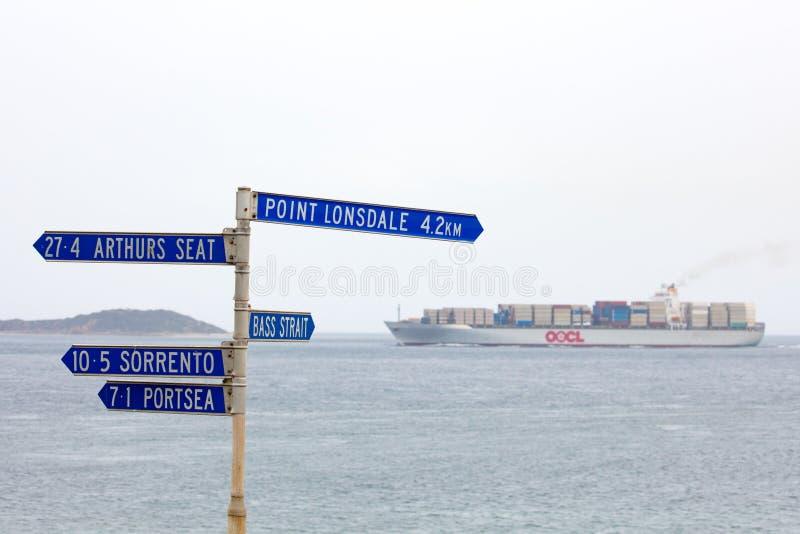 Porto Philip Bay Shipping fotografia stock libera da diritti