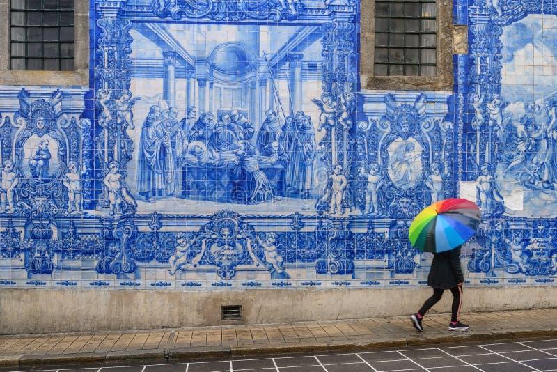 Porto Portugal bij Kapel van Zielen royalty-vrije stock afbeeldingen