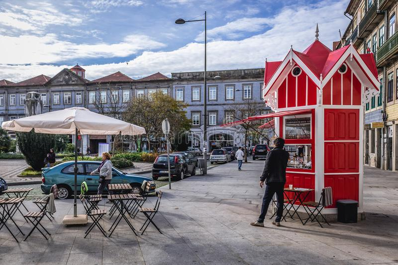 Cafe kiosk in Porto royalty free stock photography