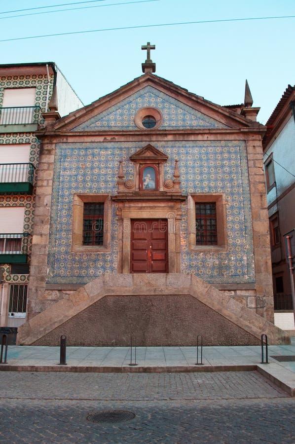 Vila Nova de Gaia, church, azulejos, Porto, Portugal, Iberian Peninsula, Europe stock images