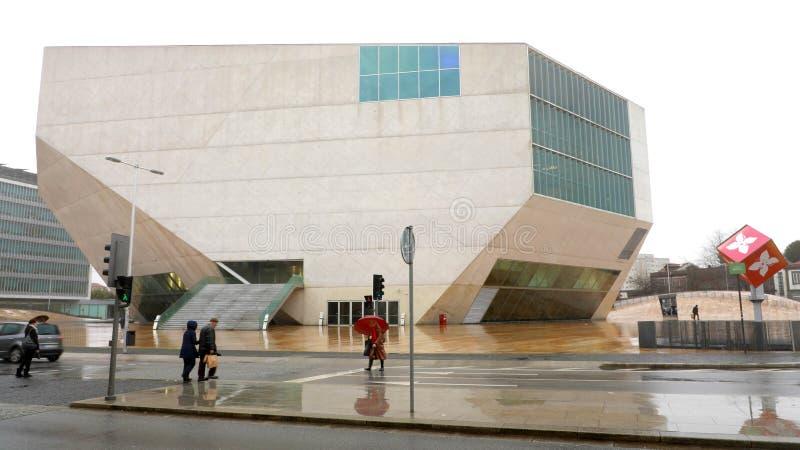 PORTO, PORTUGAL - 31 JANVIER 2019 : La maison DA Musica de Chambre de musique est une salle de concert moderne à Porto, Portugal image libre de droits