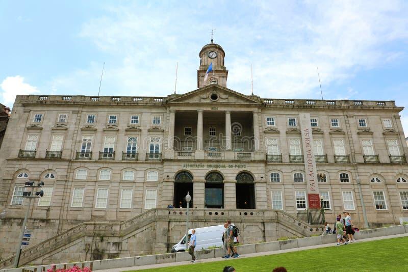 PORTO, PORTUGAL - 21. JUNI 2018: Palacio DA Bolsa, Börse-Palast ist ein historisches Gebäude in Porto, Portugal Der Palast w stockfotografie