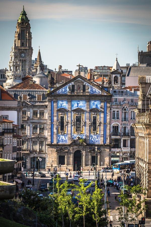 Porto Portugal 21 Maj, 2015: Kyrka för Santo Antonio DOS Congregados royaltyfri bild