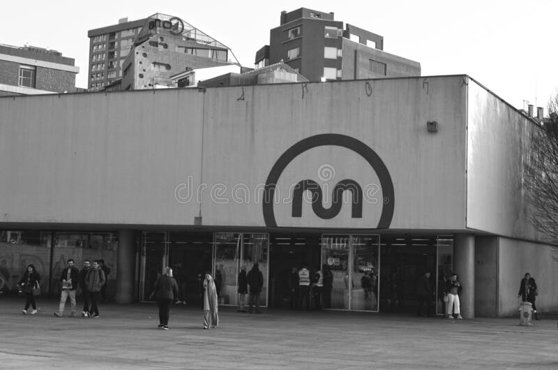 Porto,Portugal-02/02/2020: Metro trindade.The Trindade Station is the main station of Metro do Porto royalty free stock photography