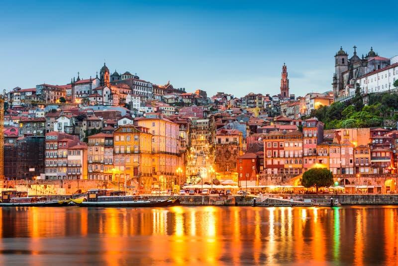Porto Portugal no rio de Douro fotos de stock royalty free