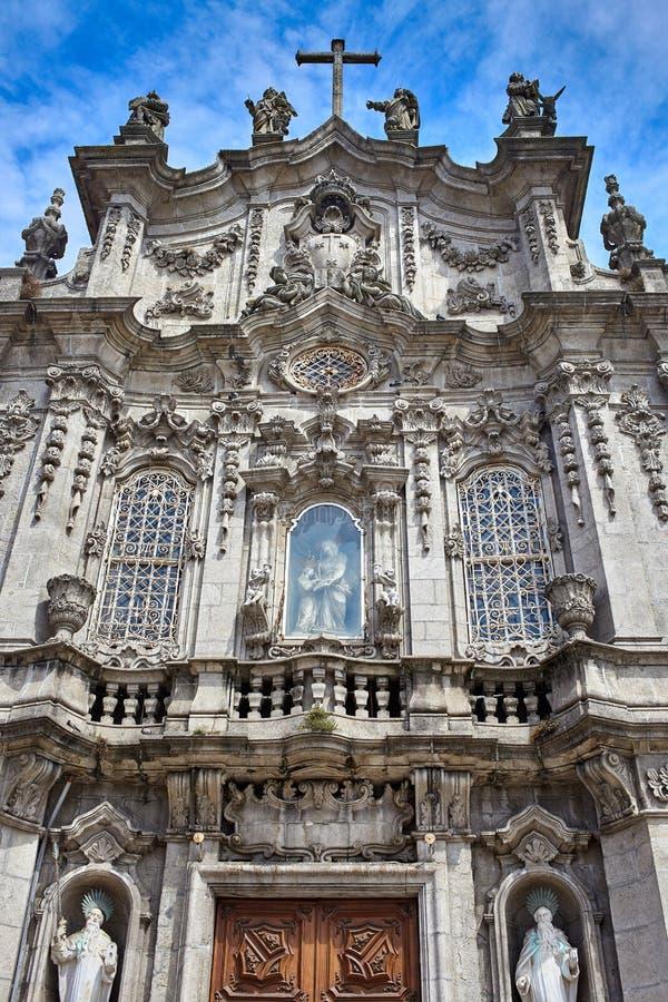 Porto/Portugal - 08 10 2017: Panorama van Igreja do Carmo in een mooie de zomerdag, Portugal royalty-vrije stock fotografie