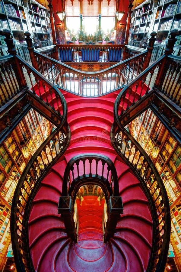 Porto, Portugal - 10th September 2015: Porto Book Shop stock photography