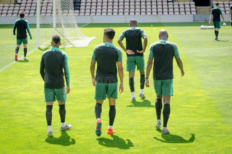 PORTO, PORTUGLAL - 9 juin 2019 : Le stage de formation d'équipe nationale du Portugal chez Estadio font Bessa XXI devant la ligue images libres de droits