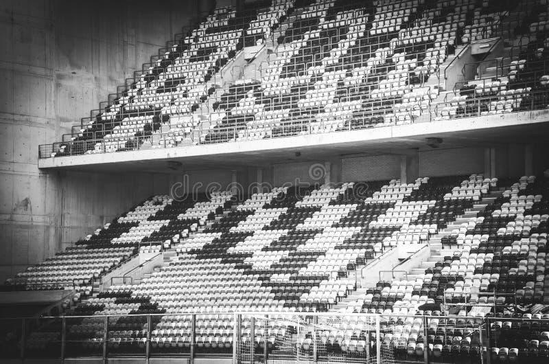 PORTO, PORTUGLAL - 8 juin 2019 : Vue générale de l'intérieur du stade Bessa XXI avant les finales de ligue de nations de l'UEFA image stock