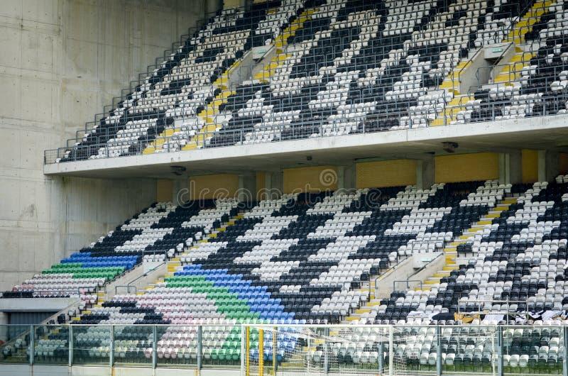 PORTO, PORTUGLAL - 8 juin 2019 : Vue générale de l'intérieur du stade Bessa XXI avant les finales de ligue de nations de l'UEFA images stock