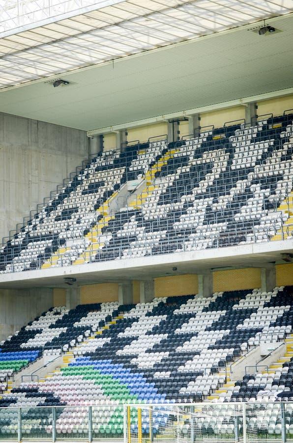 PORTO, PORTUGLAL - 8 juin 2019 : Vue générale de l'intérieur du stade Bessa XXI avant les finales de ligue de nations de l'UEFA photographie stock