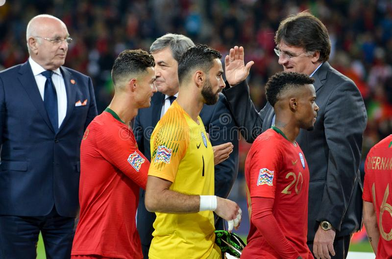 Porto Portuglal June 09 2019 Portugal National Team Receive Gold Medals During The Uefa Nations League Finals Match Between Editorial Photo Image Of Round Grass 151963316