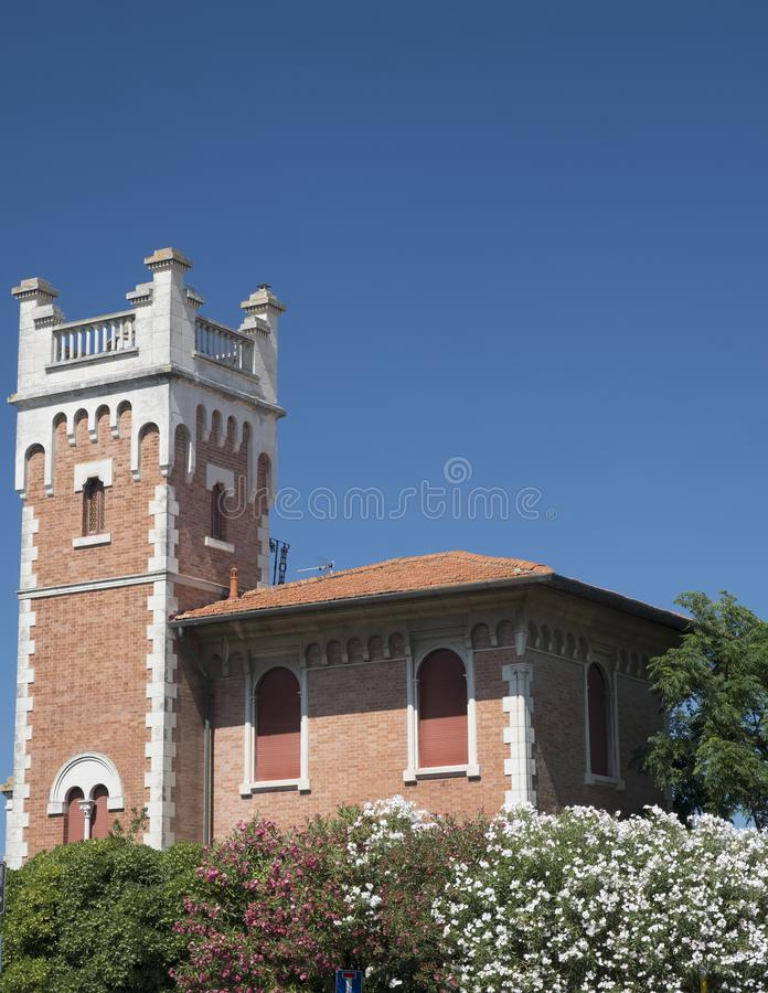 Porto Potenza Picena Marsen, Italië: oud huis royalty-vrije stock afbeeldingen