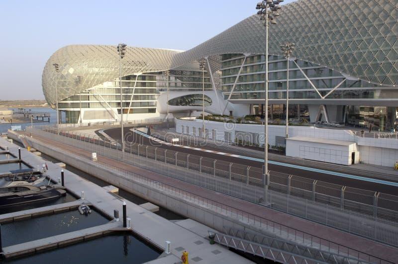 Porto Prix grande de ABU DHABI, UAE Yas fotos de stock