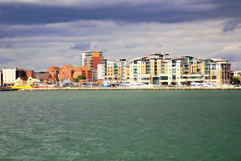 Porto Quay, Poole, Dorset, Regno Unito di Poole fotografie stock
