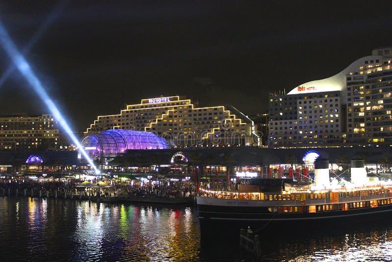 Porto querido na noite, Sydney, Austrália imagem de stock royalty free