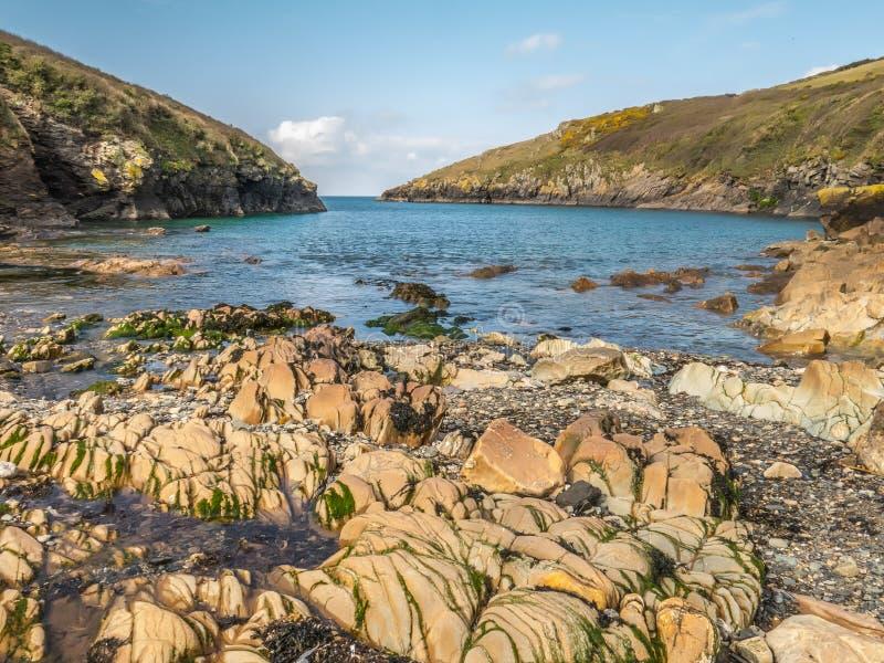 Porto Quin, Cornovaglia, Inghilterra fotografie stock libere da diritti