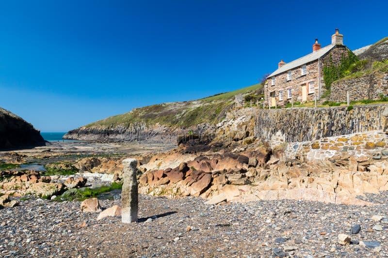 Porto Quin Cornwall England fotografia stock libera da diritti