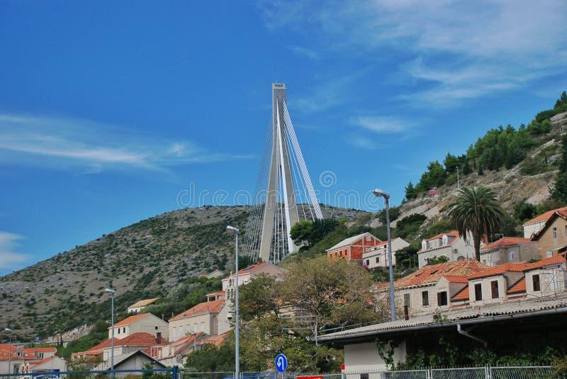 Porto Ragusa di Gruz del ponte di Tudjman immagine stock