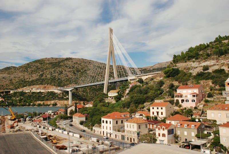 Porto Ragusa di Gruz del ponte di Tudjman fotografia stock libera da diritti