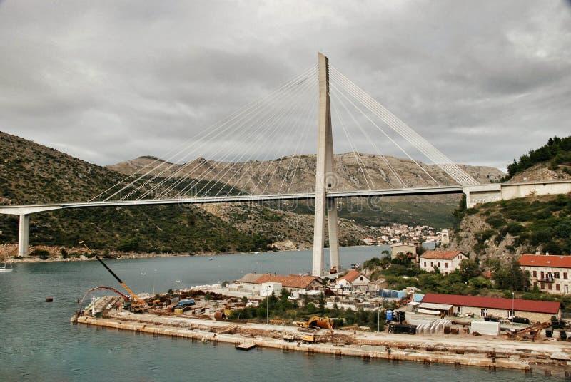 Porto Ragusa di Gruz del ponte di Tudjman fotografia stock