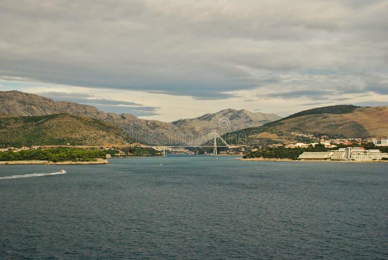 Porto Ragusa di Gruz del ponte di Tudjman immagini stock