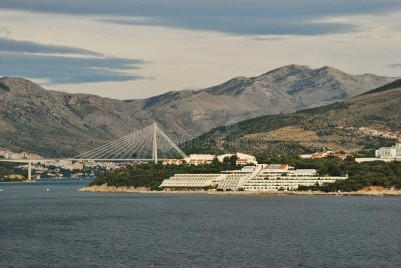 Porto Ragusa di Gruz del ponte di Tudjman fotografie stock libere da diritti