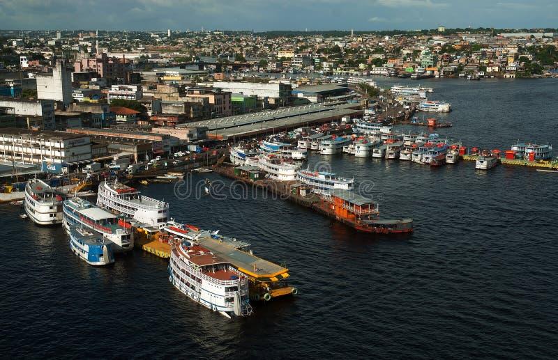 Porto regionale del mestiere di Manaus fotografie stock libere da diritti