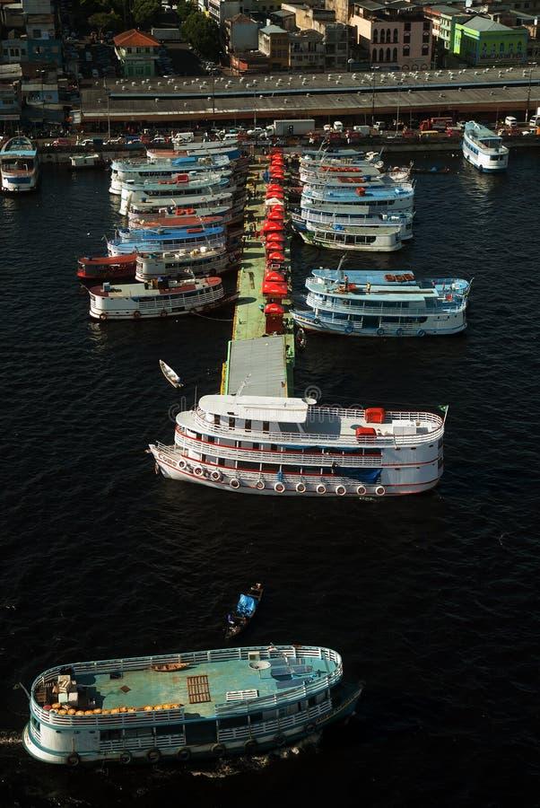 Porto regionale del mestiere di Manaus immagine stock