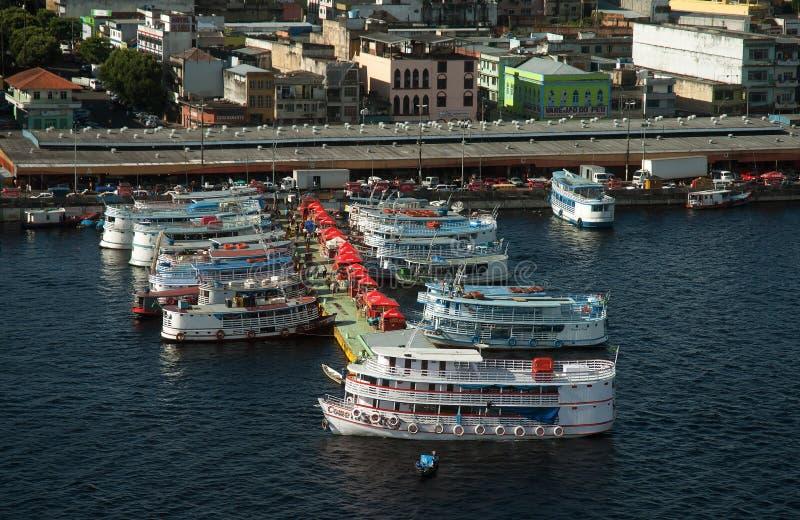 Porto regionale del mestiere di Manaus immagini stock libere da diritti