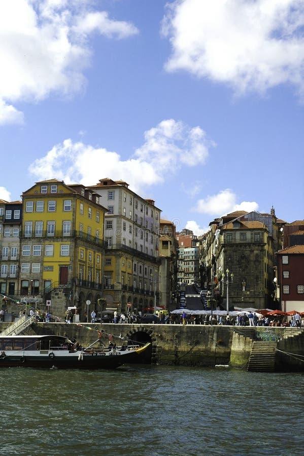 Porto Ribeira Buildings_Square_Portuguese Cityscape stock fotografie