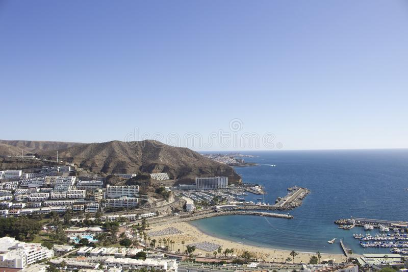 Porto Rico, antena de Gran Canaria fotografia de stock royalty free