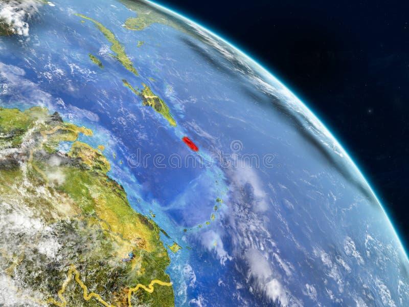 Porto Rico do espaço ilustração do vetor