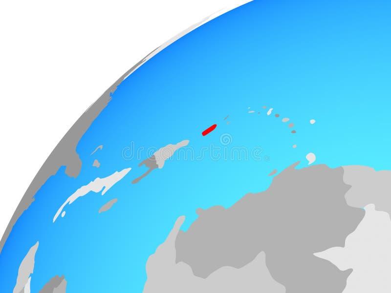 Porto Rico no globo ilustração stock