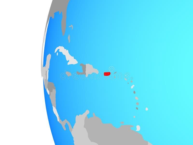 Porto Rico no globo ilustração royalty free
